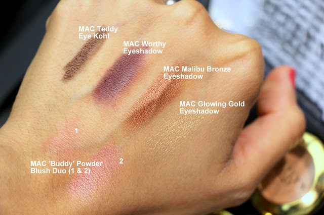 MAC Caitlyn Jenner Collection eyeshadow swatches