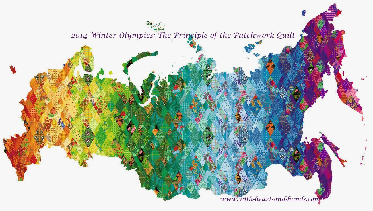 Michele Bilyeu Timeline Recent      Status     Photo     Place     Life event          Status         Photo         Place         Life event     What's on your mind?     Michele Bilyeu shared a link.     A few seconds ago     Sochi 2014 Winter Olympics: The Principle of the Patchwork Quilt won!      And don't you just love how the rainbow (and patchwork quilts) come out no matter how much one culture tries to rain on another culture's parade? Think good thought for all people, of all cultures and all beliefs, during the opening ceremonies tonight and throughout the Winter Olympics.      See the Russian patchwork Olympic apparel etc. at: