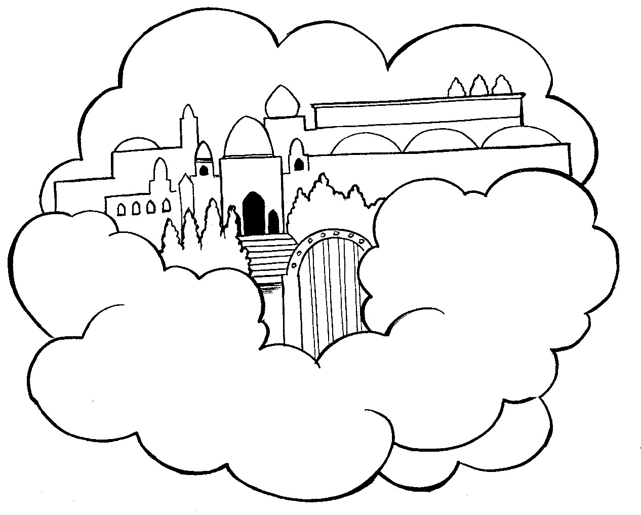 Heaven Coloring Pages - Eskayalitim