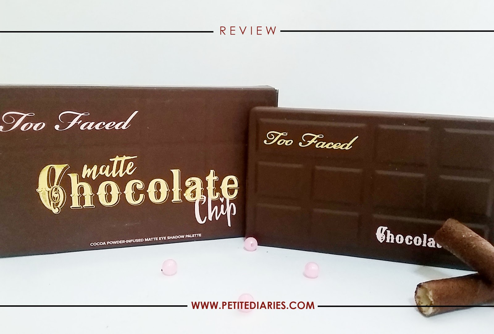 review toofaced matte chocolate chip eyeshadow