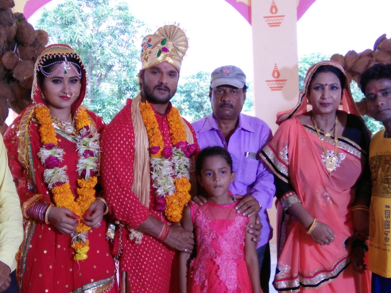 Kajal Raghwani and Khesari Lal Yadav Dulhan Ganga Paar Ke Bhojpuri Movie Shooting stills, Dulhan Ganga Paar Ke Bhandar Bhojpuri Movie