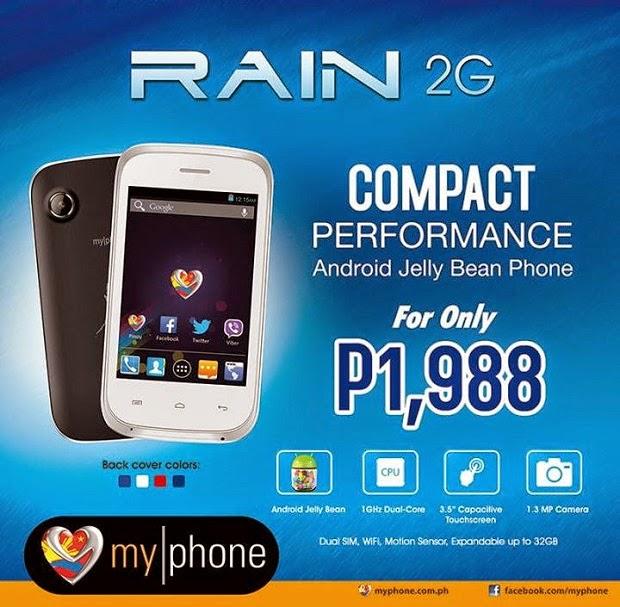 My Phone Aqua Rain 2G Specs