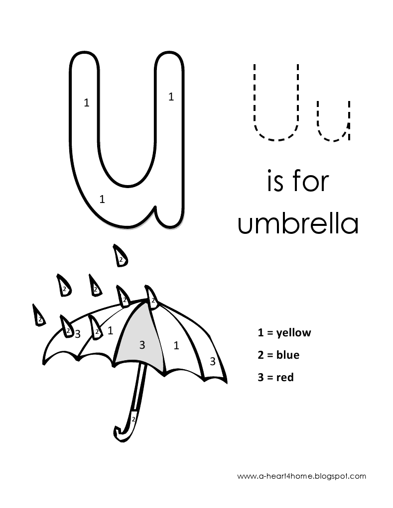 Kids page alphabet letter u lowercase coloring pages for Letter u coloring page