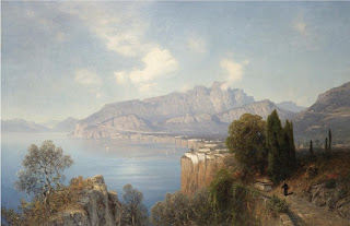 View of Sorrento in the 19th century by Oswald Achenbach