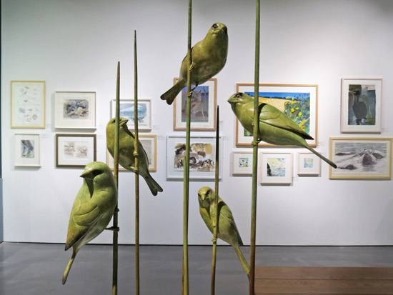 The Langford Press 3D Award: Greenfinches by Adam Binder SWLA