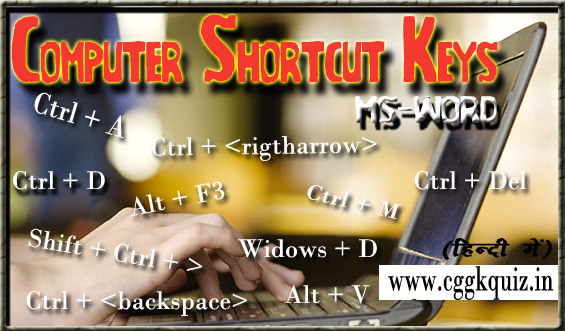 Computer Shortcut Keys in Hindi | Computer Gk in Hindi