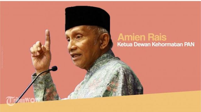 Di Depan Polda Metro Jaya, Amien Rais Minta Kapolri Tito Karnavian Dicopot