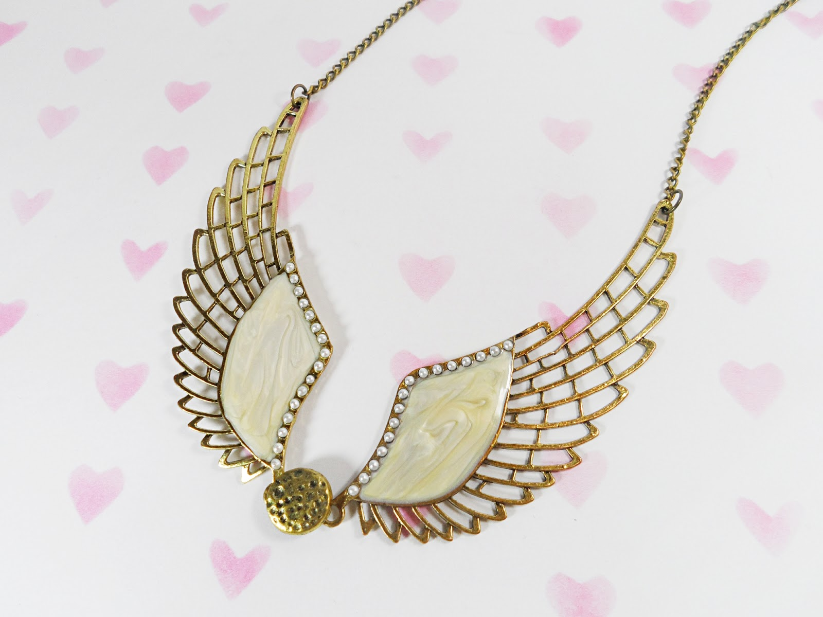 fblogger fashion vintage rosegal Steampunk Angel Wing Statement Necklace blogger review liz breygel
