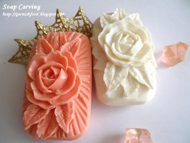 Simple soap carving flower gardening flower and vegetables