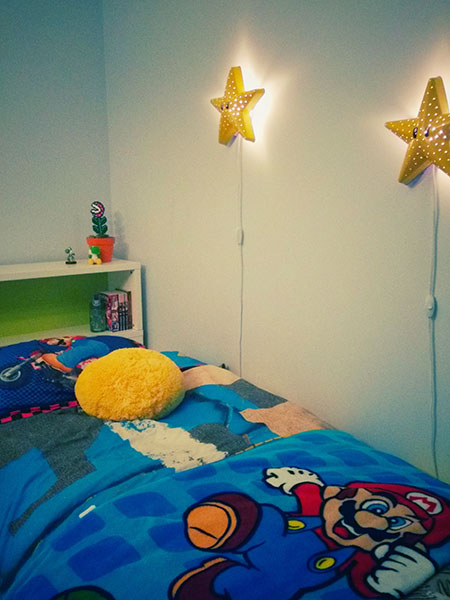 Mario Bros Star | SMILA STJARNA wall lamp IKEA | Paint | Easy DIY | Facile | lampe | Veilleuse | Étoile Mario Bros
