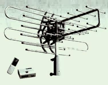 antena dengan remote putar