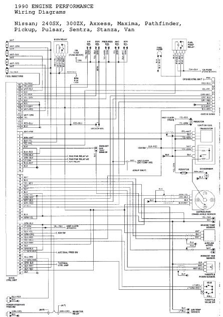 91 240sx wiring diagram repair-manuals: nissan 240sx 1989 - 1990 repair manual 91 240sx injector wire diagram #13