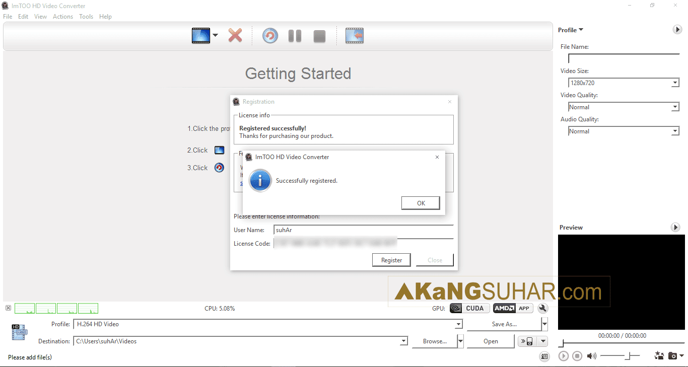 Free download software video converter ImTOO HD Video Converter 7 final latest version terbaru gratis serial number keygen patch crack license key update www.akangsuhar.com