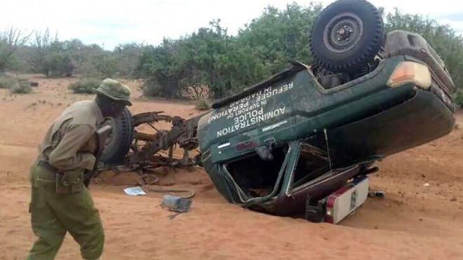 Five Kenyan police killed in roadside bomb attack