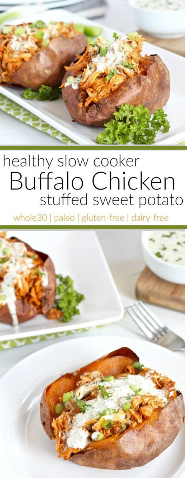 Slow Cooker Buffalo Chicken #katagonicdiet #buffalo