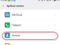 Cara Mengatasi Bug Kontak Pada Hp Xiaomi