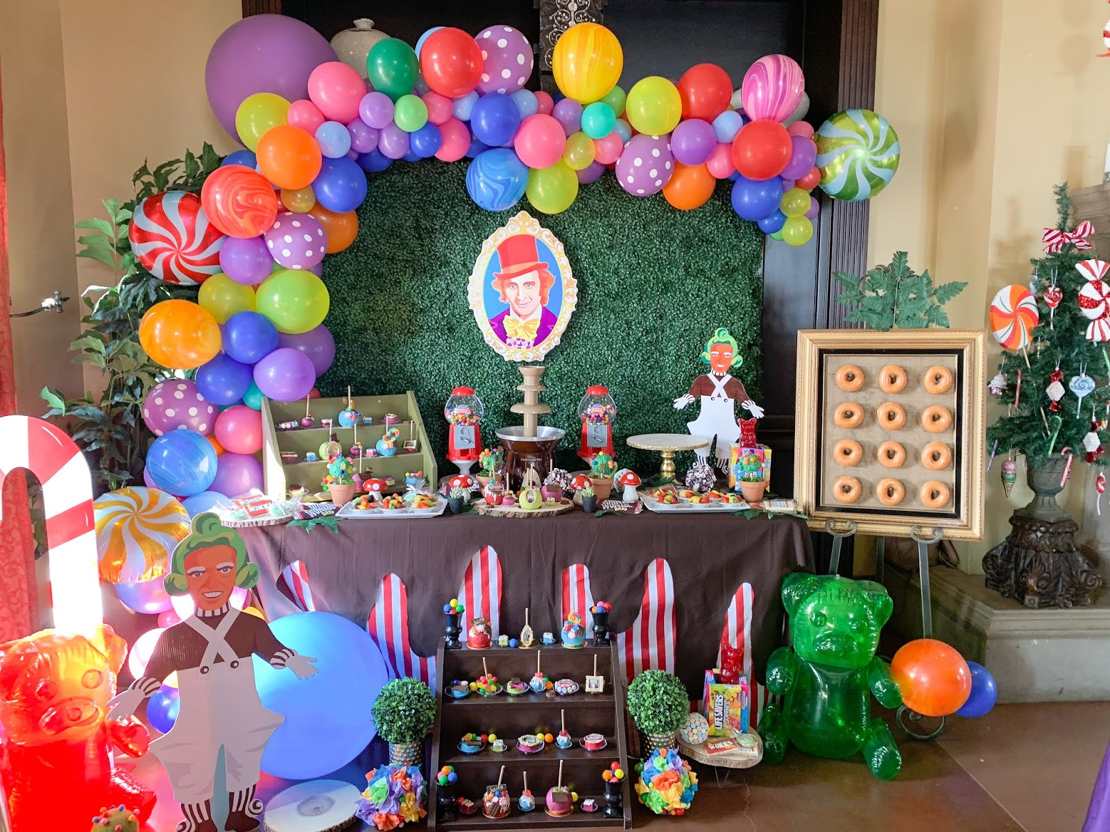 most extravagant birthday party, extravagant wonka dessert table