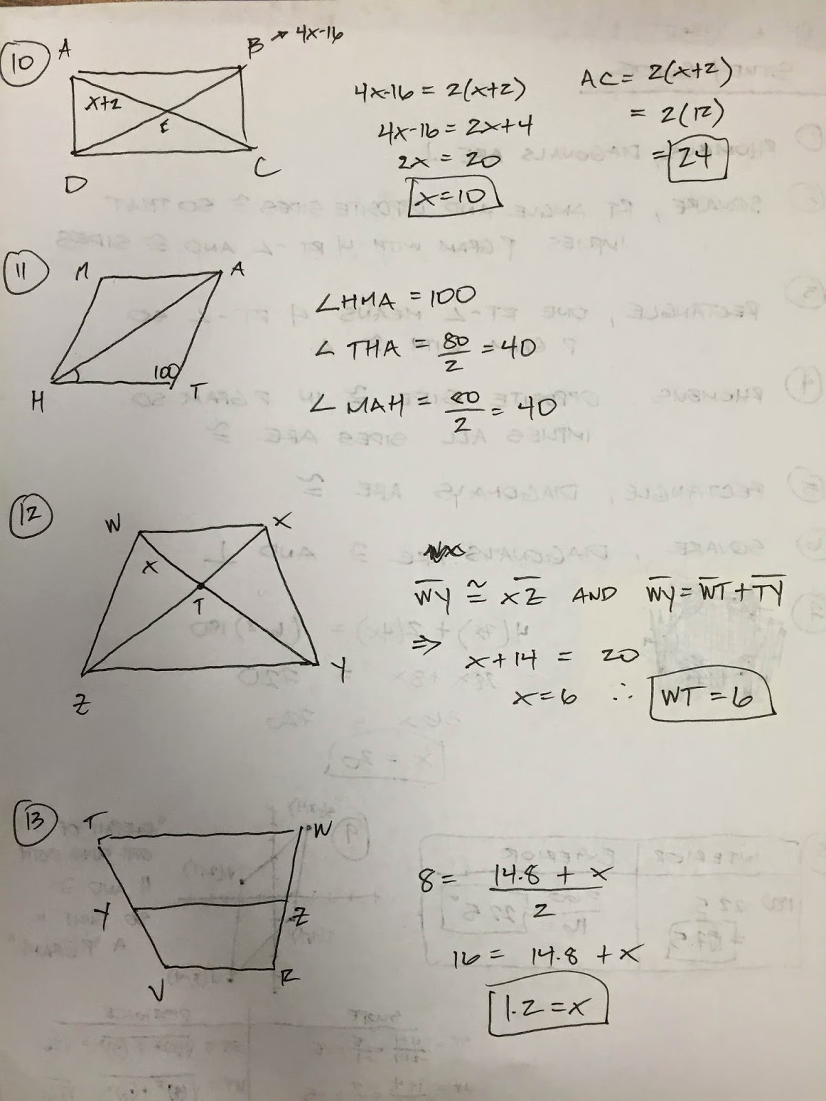 We looked at interior and exterior angle sums, along with individual angle measures of regular polygons. Unit 7 Polygons And Quadrilaterals Homework 3 Answer Key
