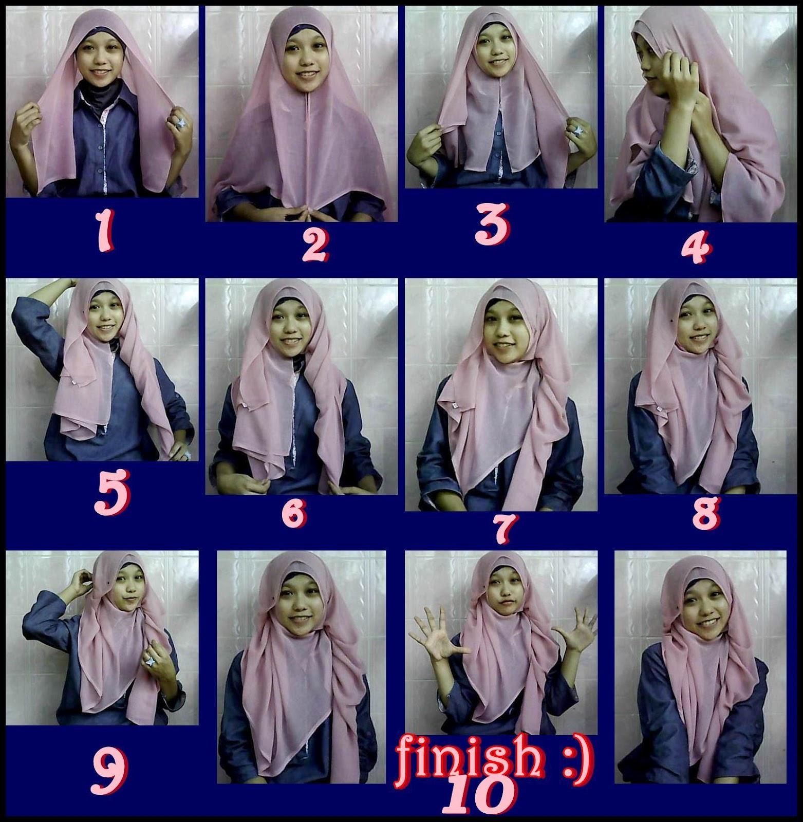 Cara Memakai Hijab Cadar  Tutorial Hijab