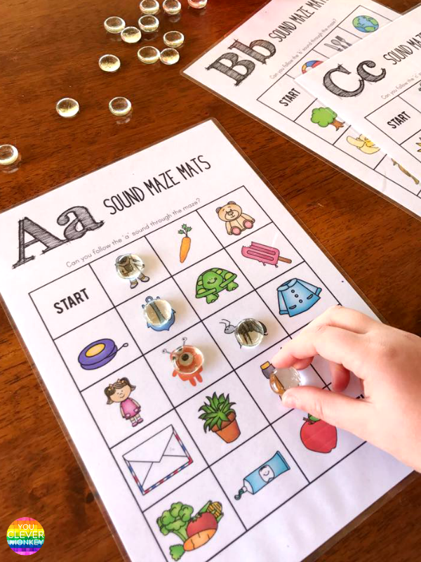 How To Best Teach Initial Sounds - teaching ideas and printable resources ideal for young children learning beginning letter sounds | you clever monkey