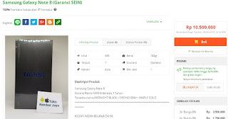 Harga baru Samsung Galaxy Note8 Garansi Resmi SEIN di Tokopedia - Toko KembarJaya