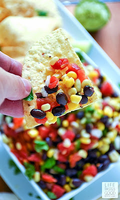 Corn and Black Bean Salsa | by Life Tastes Good