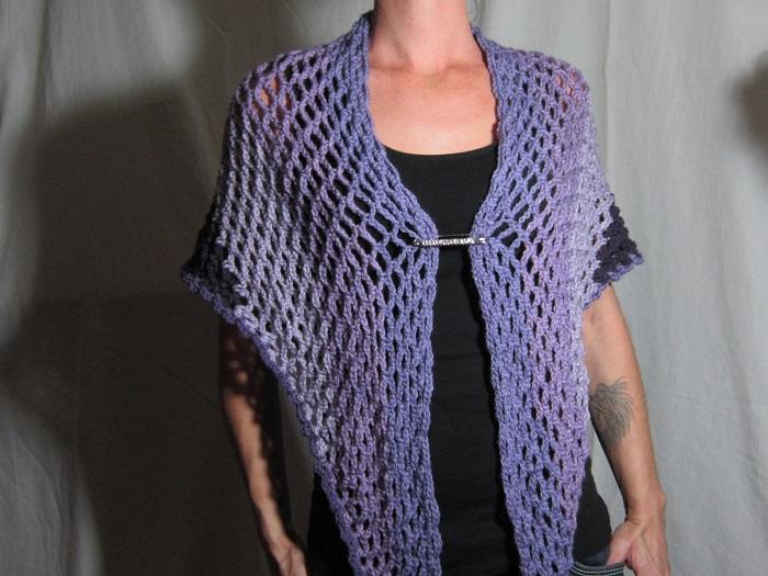 free crochet pattern, Angel Cakes Shawl, Caron Cakes