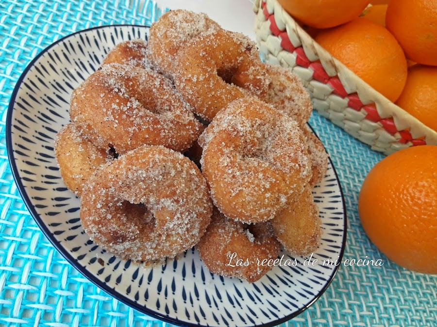 Rosquillas de naranja y canela
