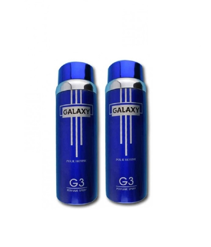 Pack Of 2 - Galaxy Plus G 3 Pour Homme Body Spray 200 ml Each