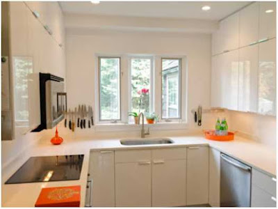 dapur minimalis ukuran 2x2 warna krem