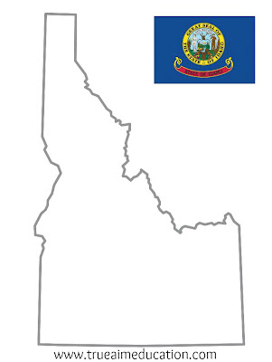 idaho state printable