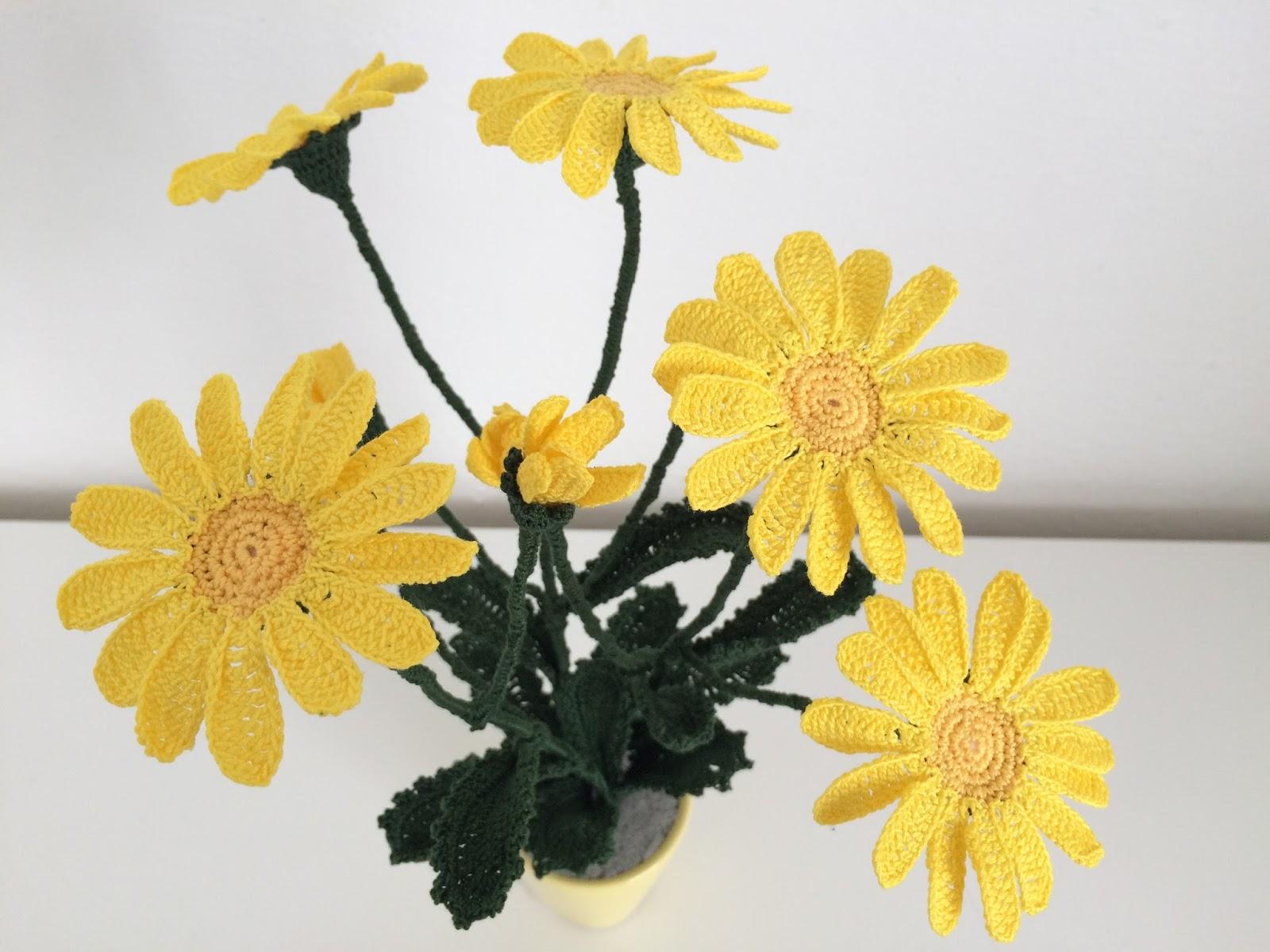 Il blog di sam how to crochet a wild yellow daisy for Il blog di sam piante grasse