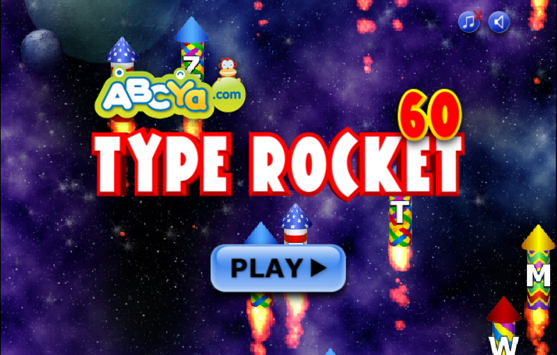 Image result for typing rocket abcya images