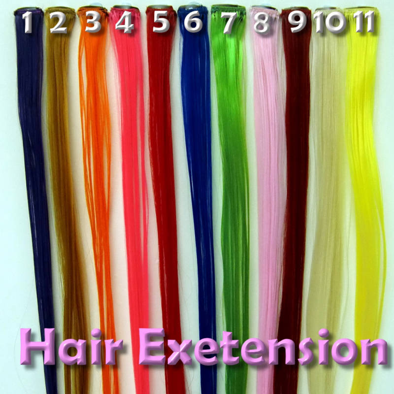 Hair Extensions Types Colored Hair Extensions