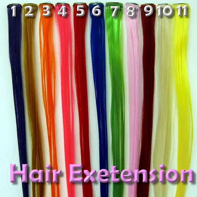 Hair Extensions Types: Colored Hair Extensions