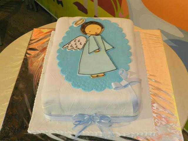 Torta angelito fiesta bautizo campestre Bogota