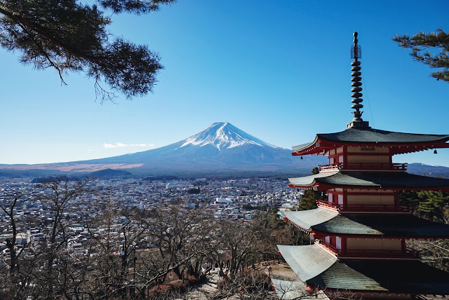 mt fuji fujisan mountain japan kawaguchi lake chureito pagoda