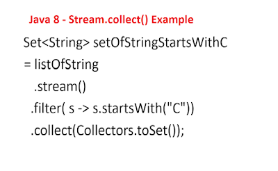 Java 8 - Stream.collect() Example
