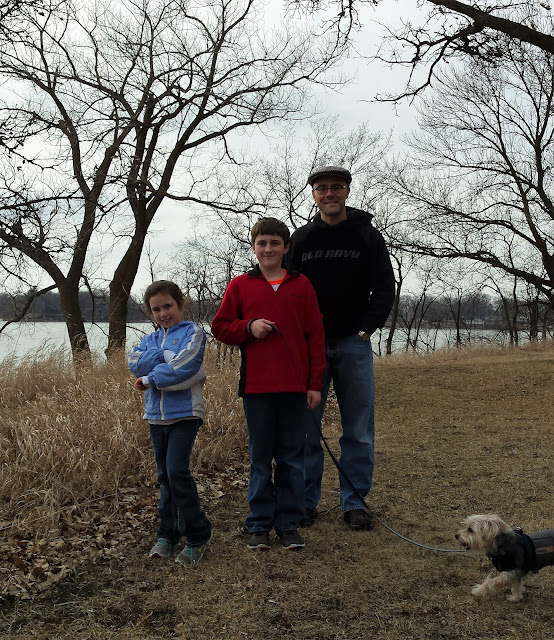 Adelaide, William, Will, and Frodo at Lake Shetek