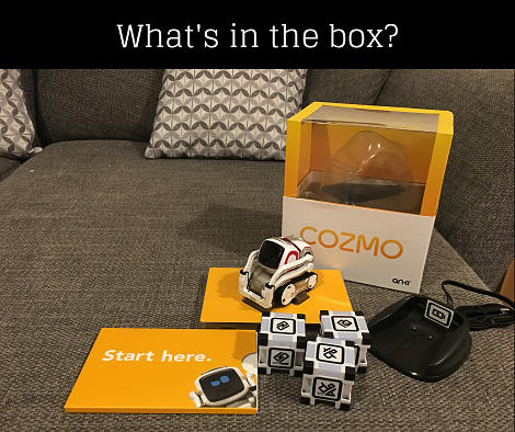 Cozmo robot box contents
