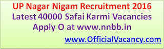UP Nagar Nigam Recruitment 2016