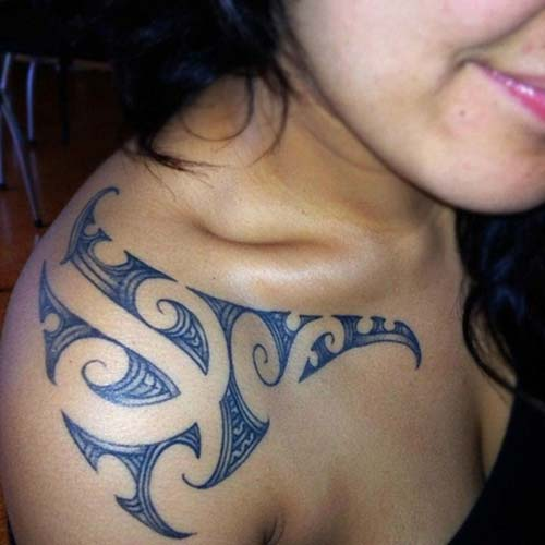 kadın omuz maori tribal dövmeleri woman shoulder maori tribal tattoos