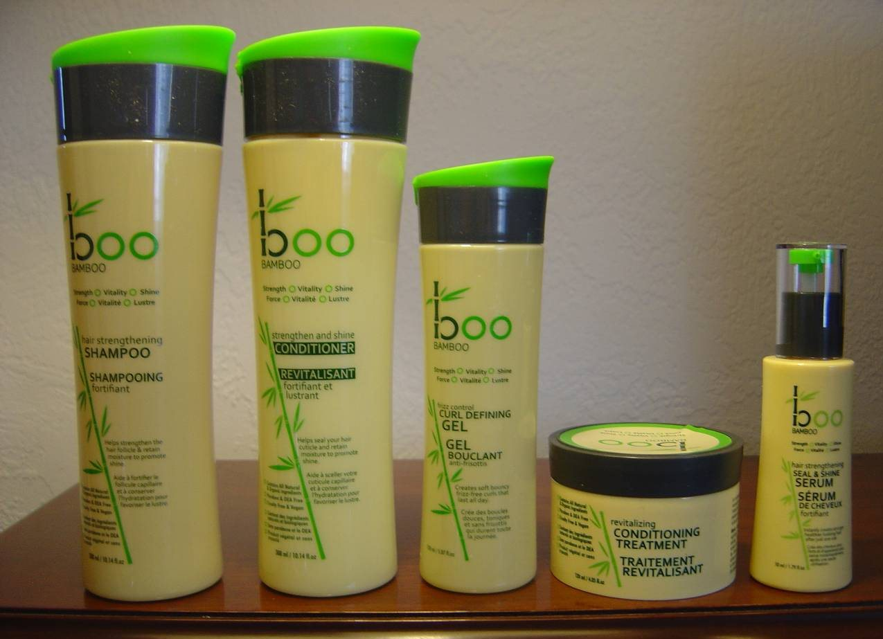 Boo Bamboo hair products assortment