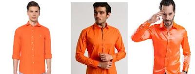 turuncu gömlek erkek