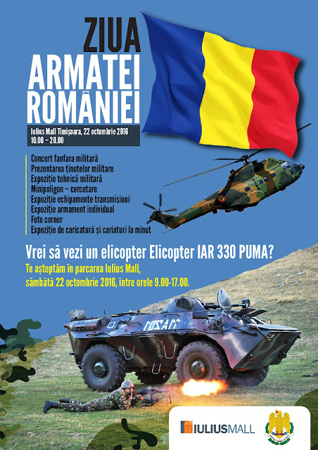 Ziua Armatei Romane la Timisoara - 22 octombrie 2016