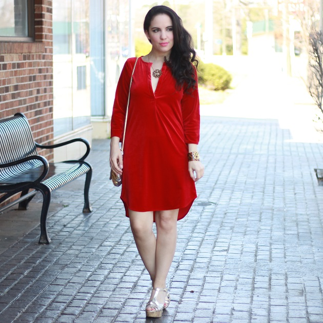 Red Velour Dress