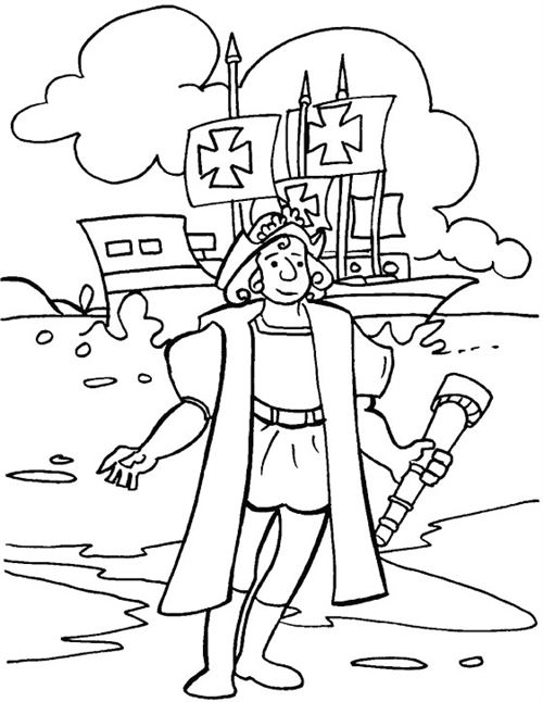 Free Online Columbus Day Coloring Pages