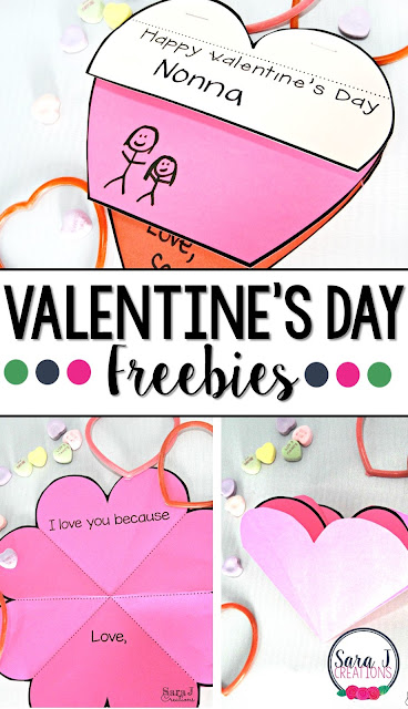 Free foldable and flip book valentines. Perfect for students to make for friends, family and classmates for Valentine's Day.
