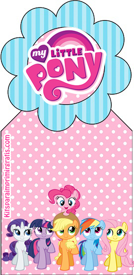 My Little Pony Free Printable Bookmarks.