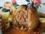Cebollas Rellenas de Carne Picada